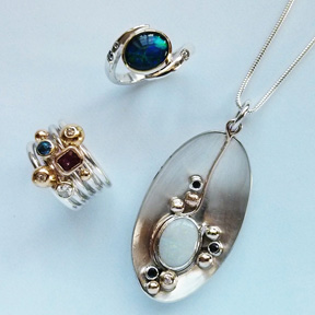 Set of gorgeous remodelled jewellery